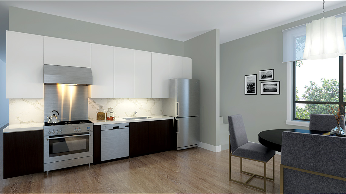 Rendering of Dellwood Park Urban Townhomes Unit Kitchen