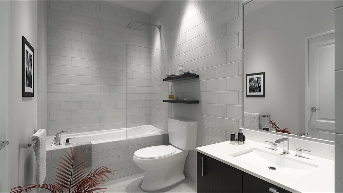 Rendering of Dellwood Park Urban Townhomes Unit Bathroom