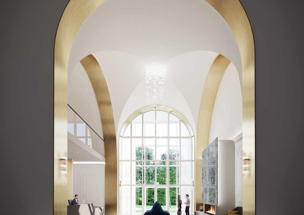 Interior Rendering of Eight Cedarland Condos Lobby