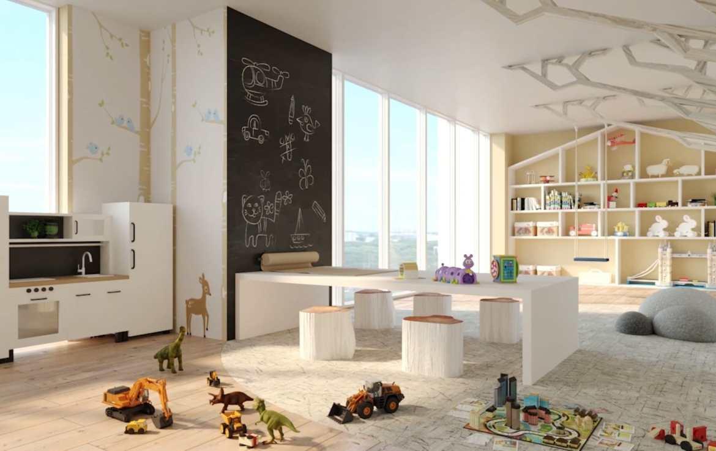 Interior Rendering of Eight Cedarland Condos Kids Play Room