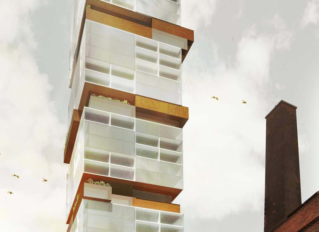 Exterior Rendering of Rack House D Condos