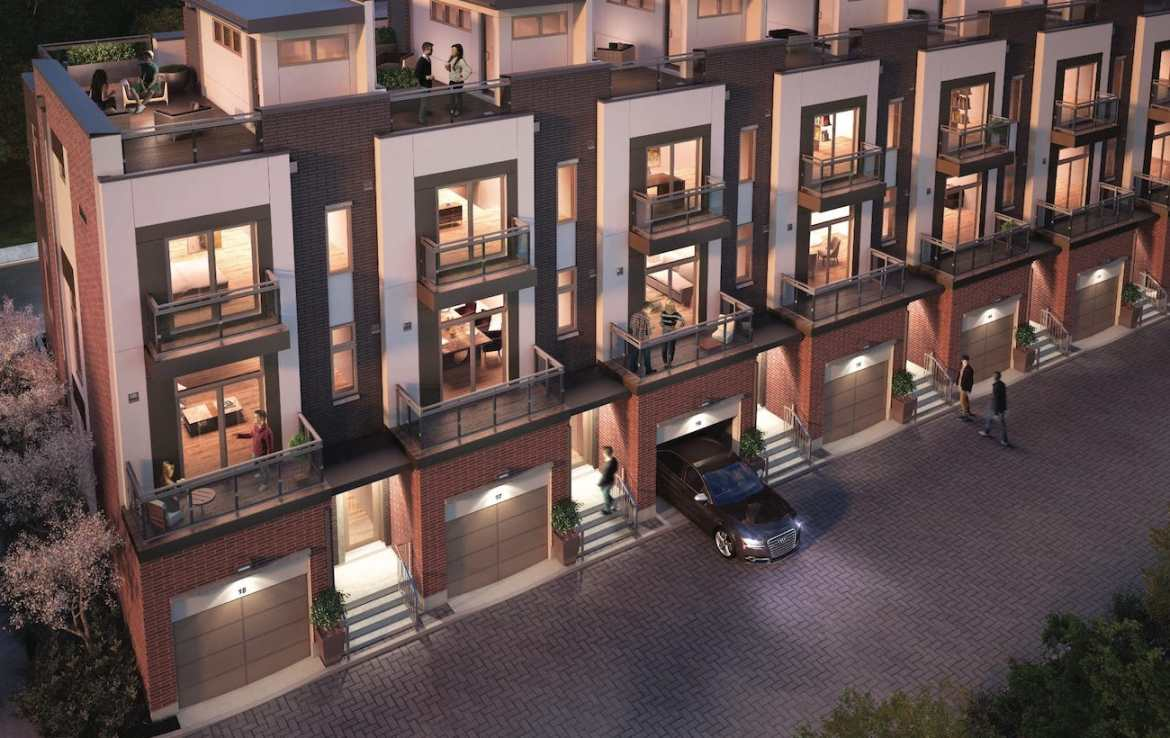 Exterior Rendering of The Sutton Collection Homes