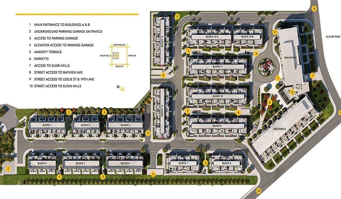 Site Plan Rendering of NEXT Phase Condos