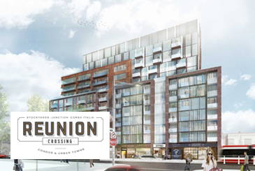 Exterior Rendering of Reunion Crossing Condos & Urban Towns