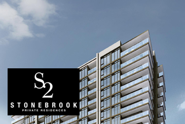 S2 at Stonebrook Exterior Rendering with Logo Overlay