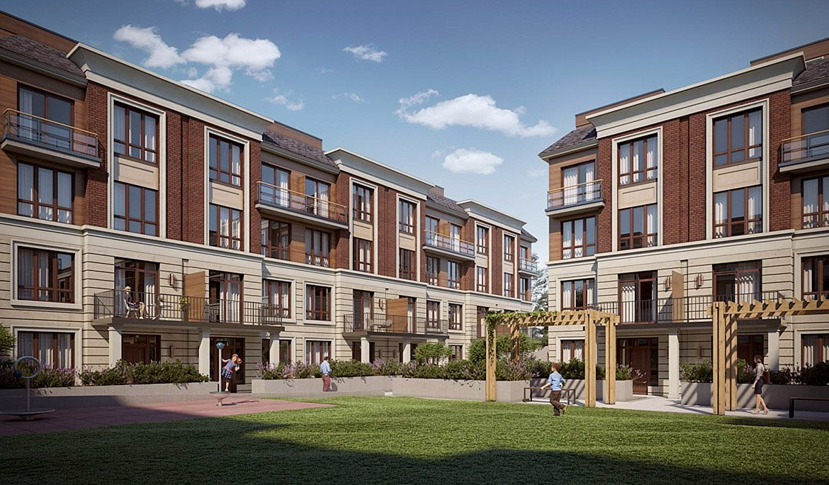 Exterior Rendering of 4005 Hickory Drive Towns