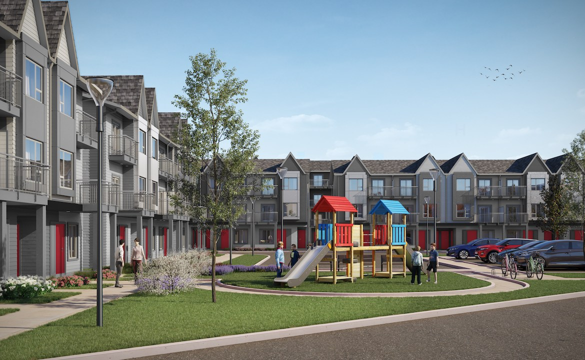 Rendering of Maxx Urban Towns parkette