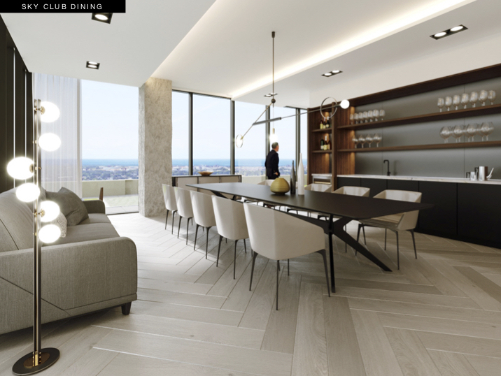 S2 at Stonebrook Sky Club Dining Rendering