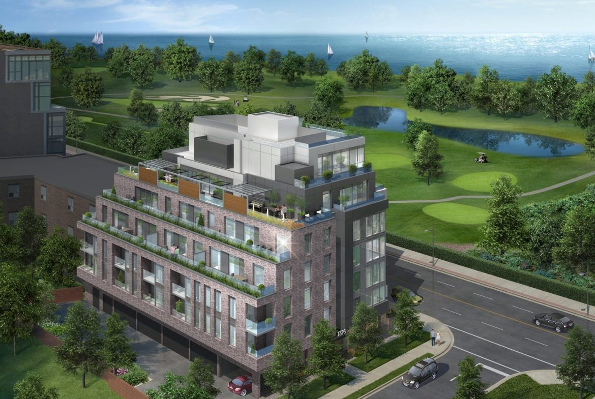 Exterior Rendering of Terrasse Condos at the Hunt Club
