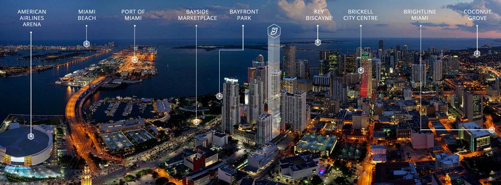 Rendering of YotelPad Miami Condos