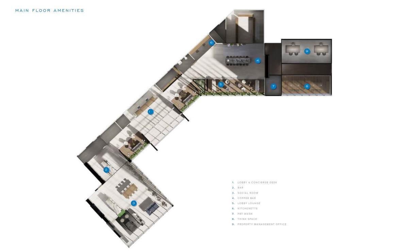 SXSW 2 main floor amenity map.