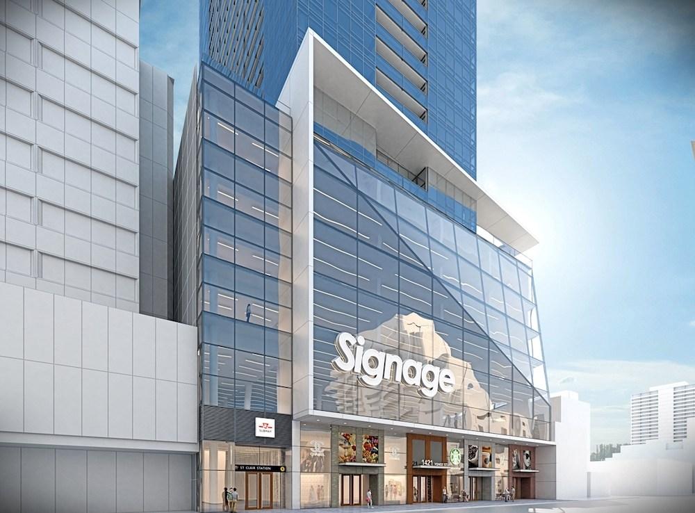 Exterior Rendering of Yonge + St. Clair Condos