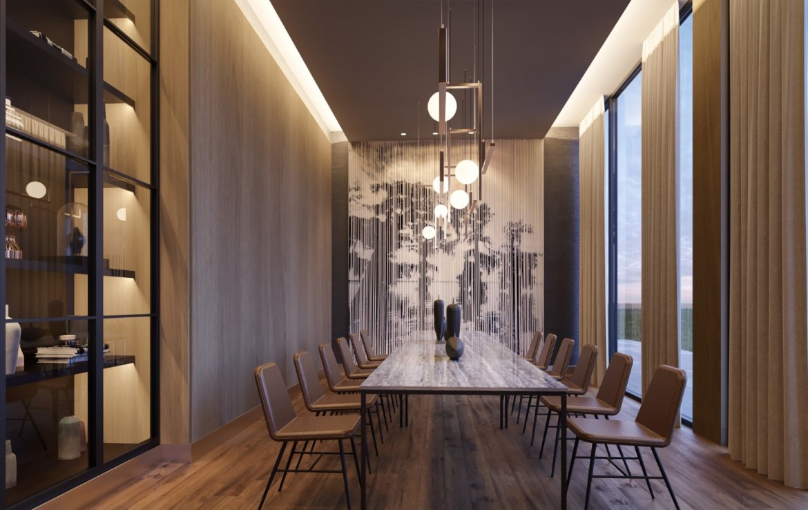 Rendering of Crosstown Condos Dining Room