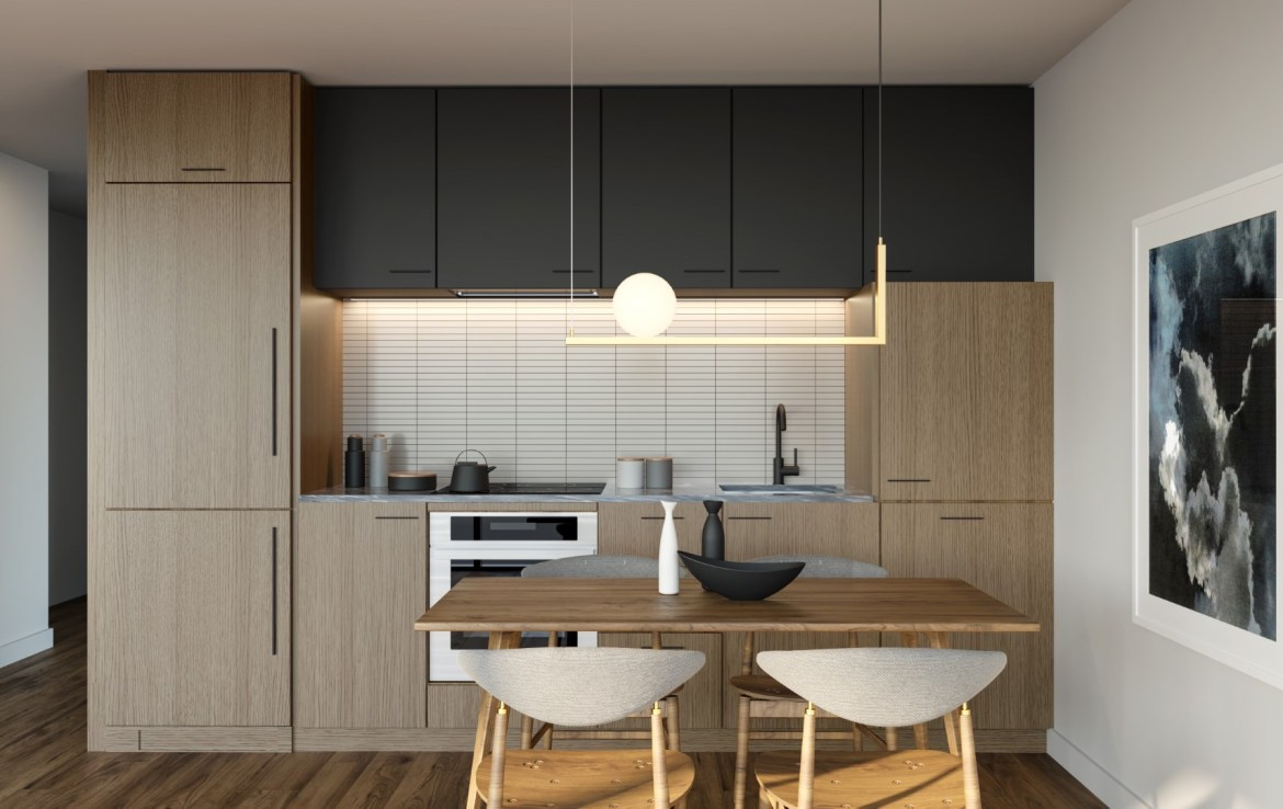 Rendering of Crosstown Condos Kitchen Suite