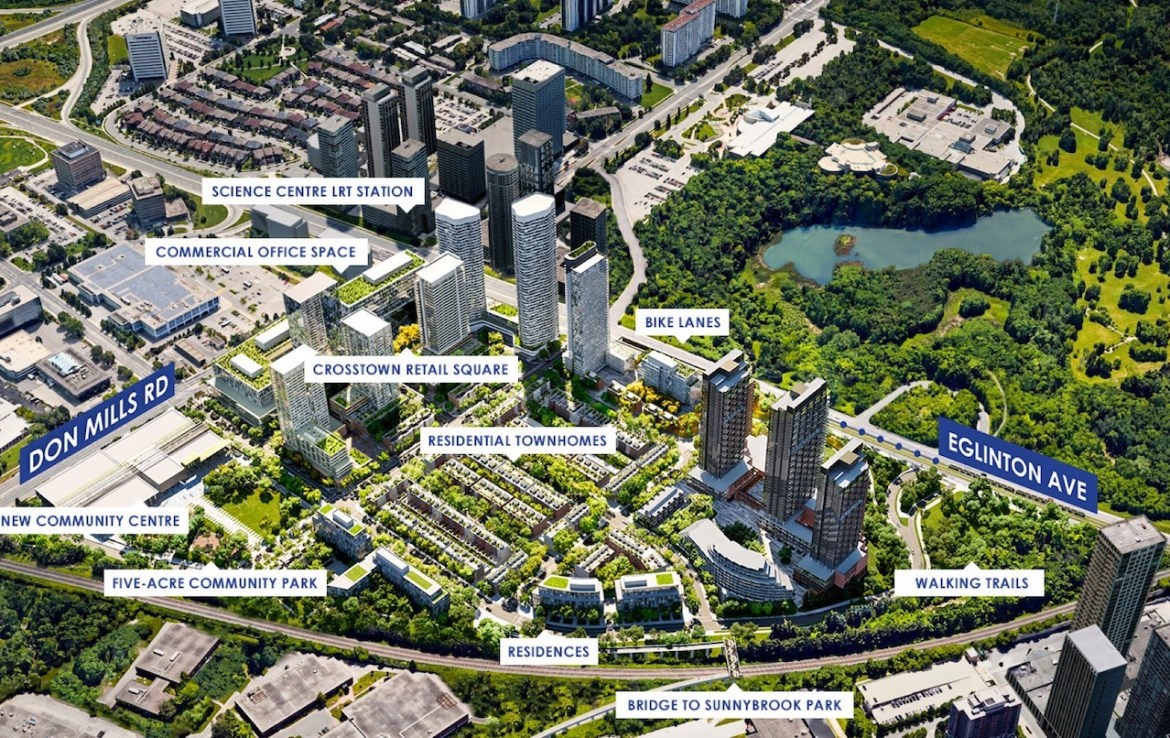 Rendering of Crosstown Condos Siteplan