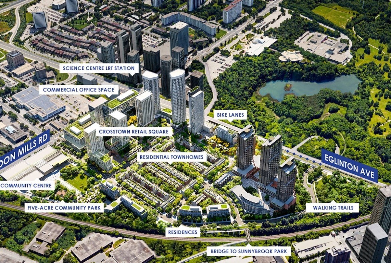Rendering of Crosstown Condos Siteplan