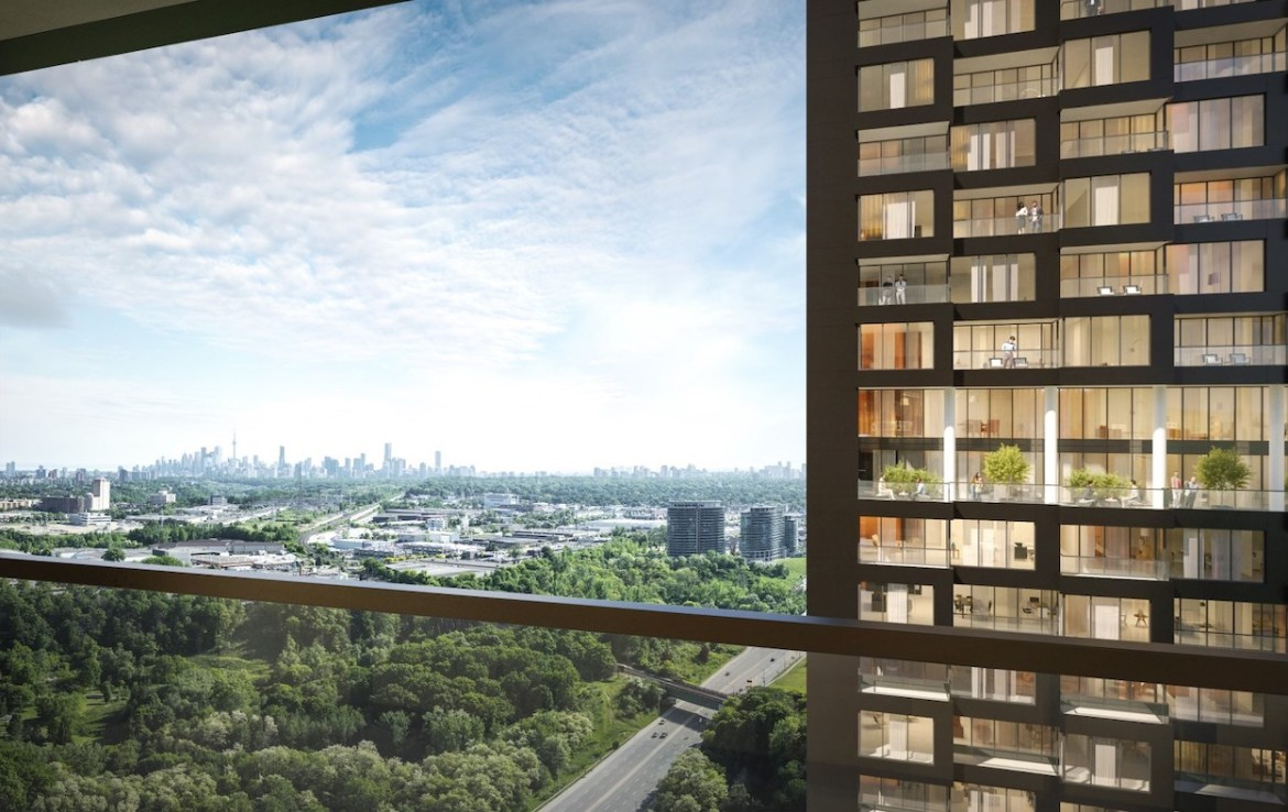 Rendering of Crosstown Condos View