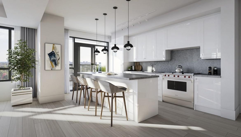 Rendering of Empire Maven Condos Interior Suite Kitchen
