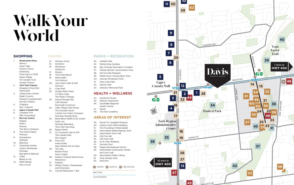 Amenities Map Exterio of The Davis Residences