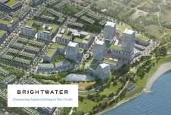 Aerial view of Brightwater Community in Port Credit, Mississauga.