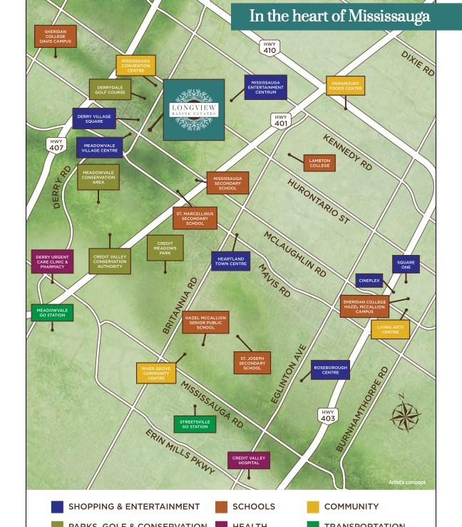 Longview Ravine Estates Local Amenity Map