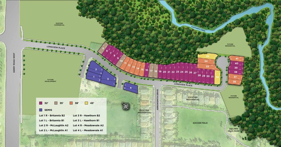 Longview Ravine Estates Site Plan