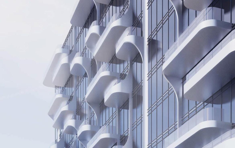Building Siding Rendering of Anx Condos Toronto