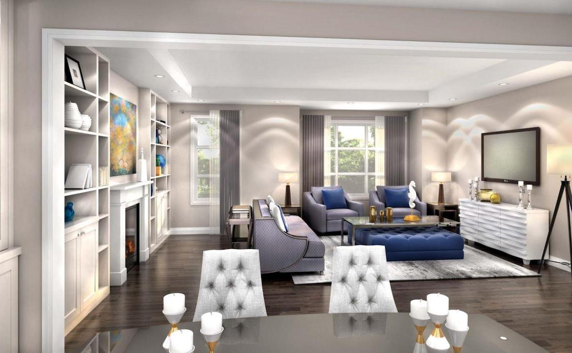 Interior Rendering of Meadowvale Lane Home Living Room