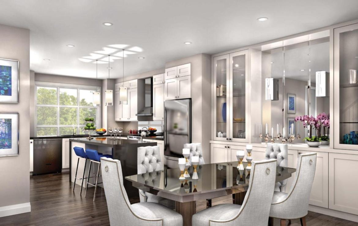 Interior Rendering of Meadowvale Lane Home Dining Room