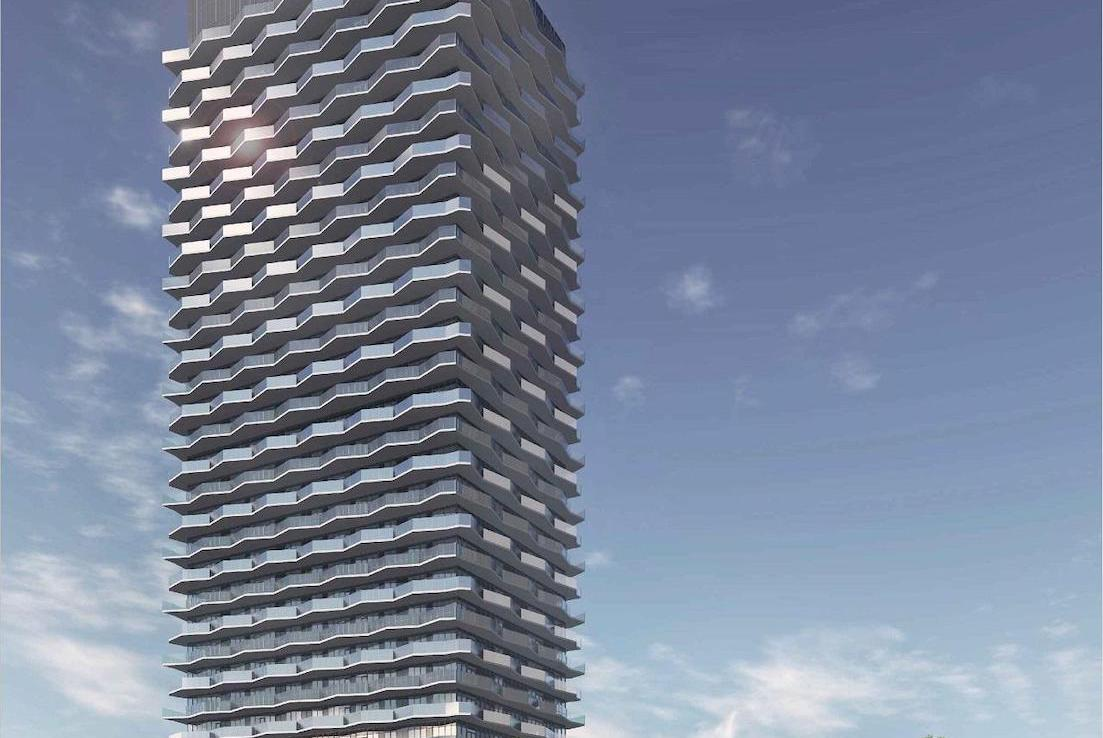 Full Exterior Rendering of Thirty Six Zorra Condos