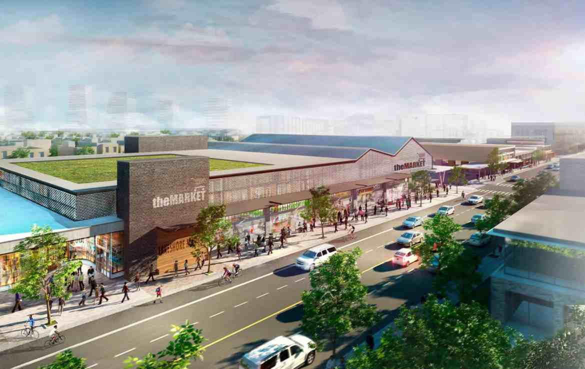 Rendering of West Village Port Credit Market