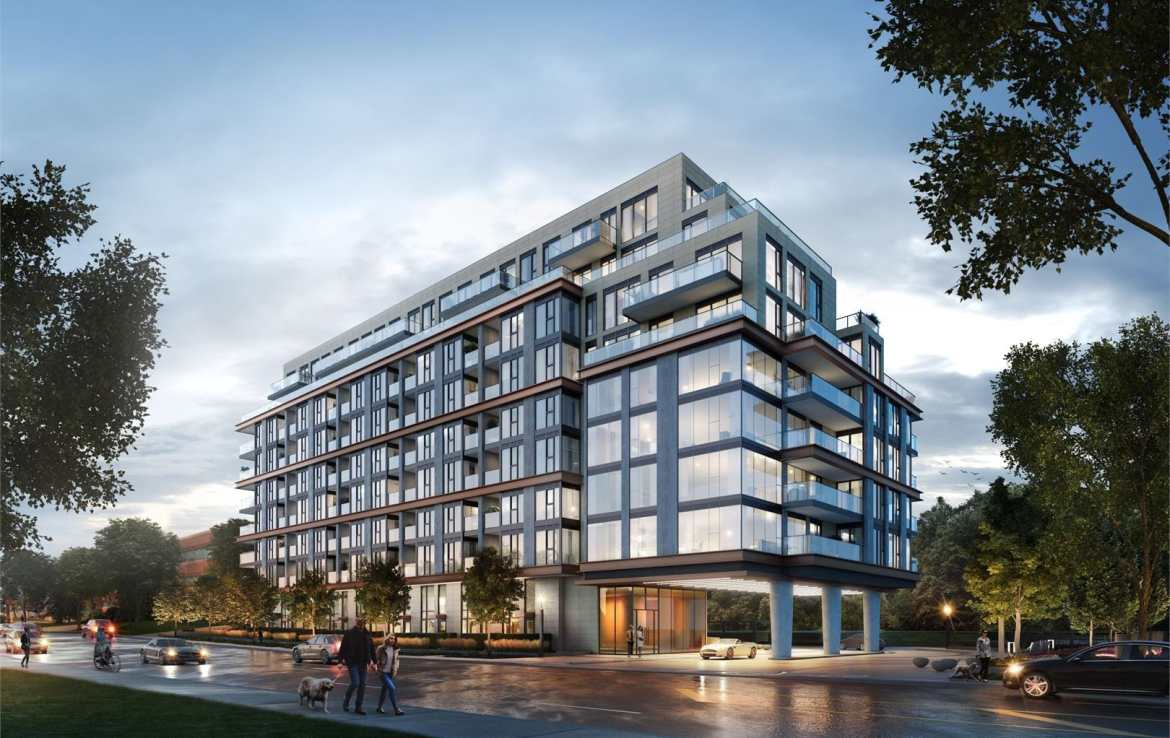 Exterior rendering of 250 Lawrence Condos
