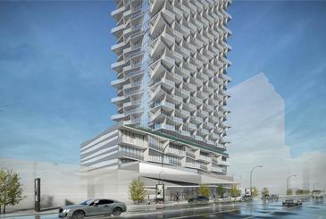 Exterior rendering of 5400 Yonge Street Condos.