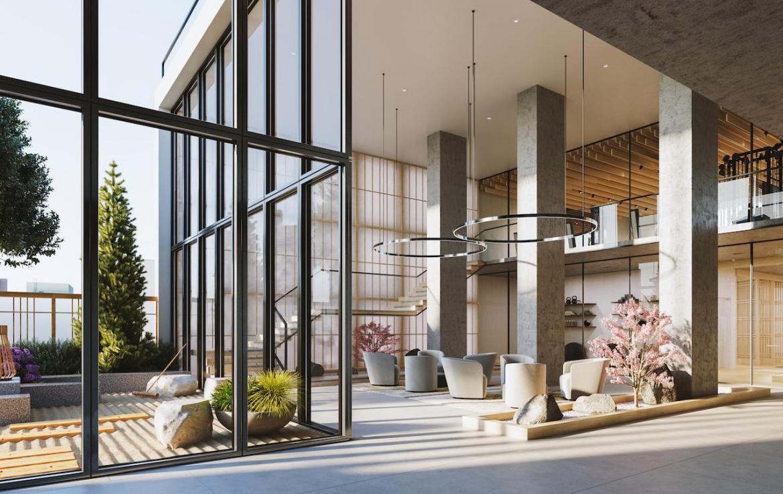 The Saint Condos grand lounge