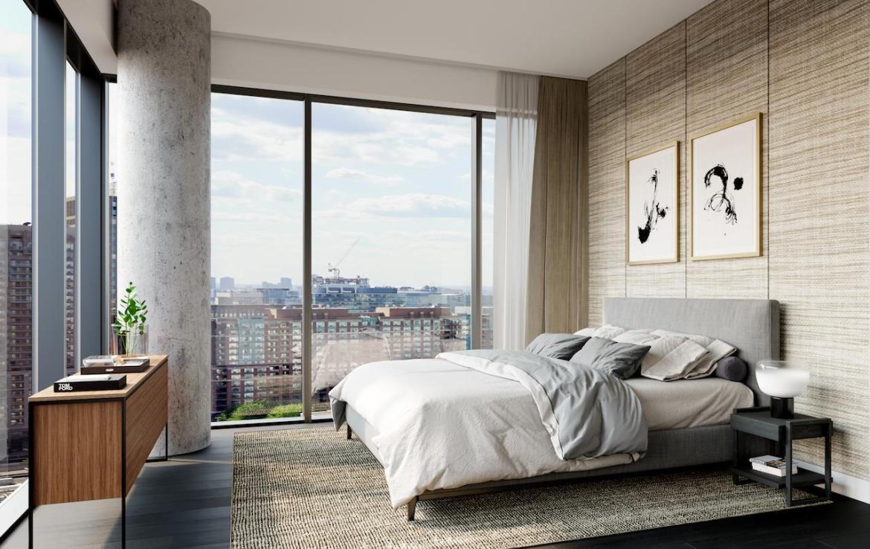 The Saint Condos interior suite bedroom