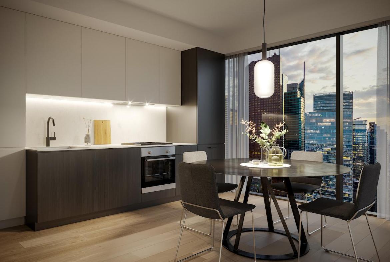 The Saint Condos interior suite kitchen