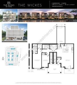 The Bond on Yonge floor plan The Wickes
