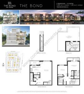 The Bond on Yonge floor plan The Bond
