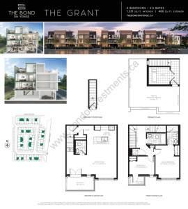 The Bond on Yonge floor plan The Grant