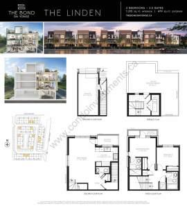 The Bond on Yonge floor plan The Linden