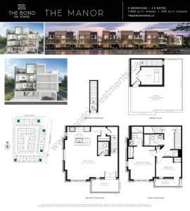 The Bond on Yonge floor plan The Manor