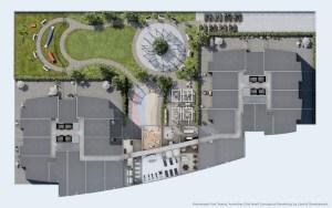 Promenade Park Towers main level amenity plan.