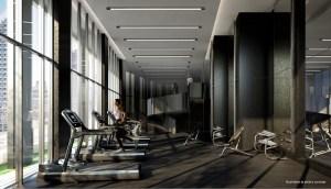 Gym rendering of No. 31 Parliament Condos.