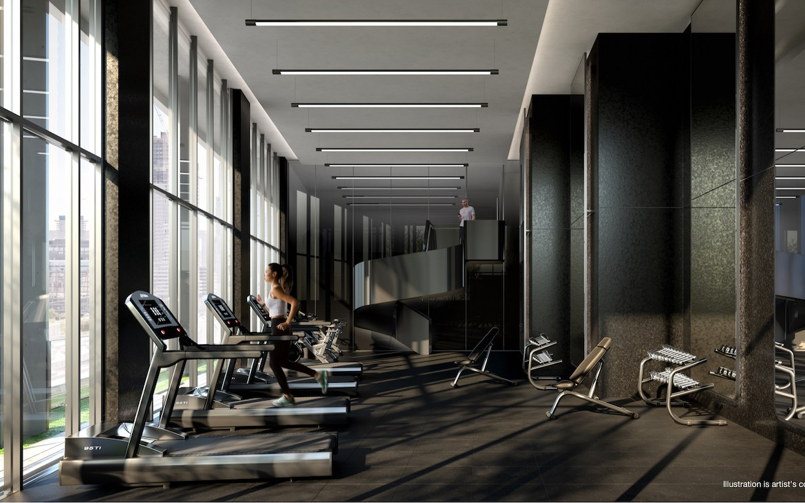 Gym rendering of No. 31 Parliament Condos.