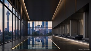 Indoor swimming pool rendering of No. 31 Parliament Condos.