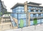 rendering-sketch-1345-lakeshore-road-condos-frontage