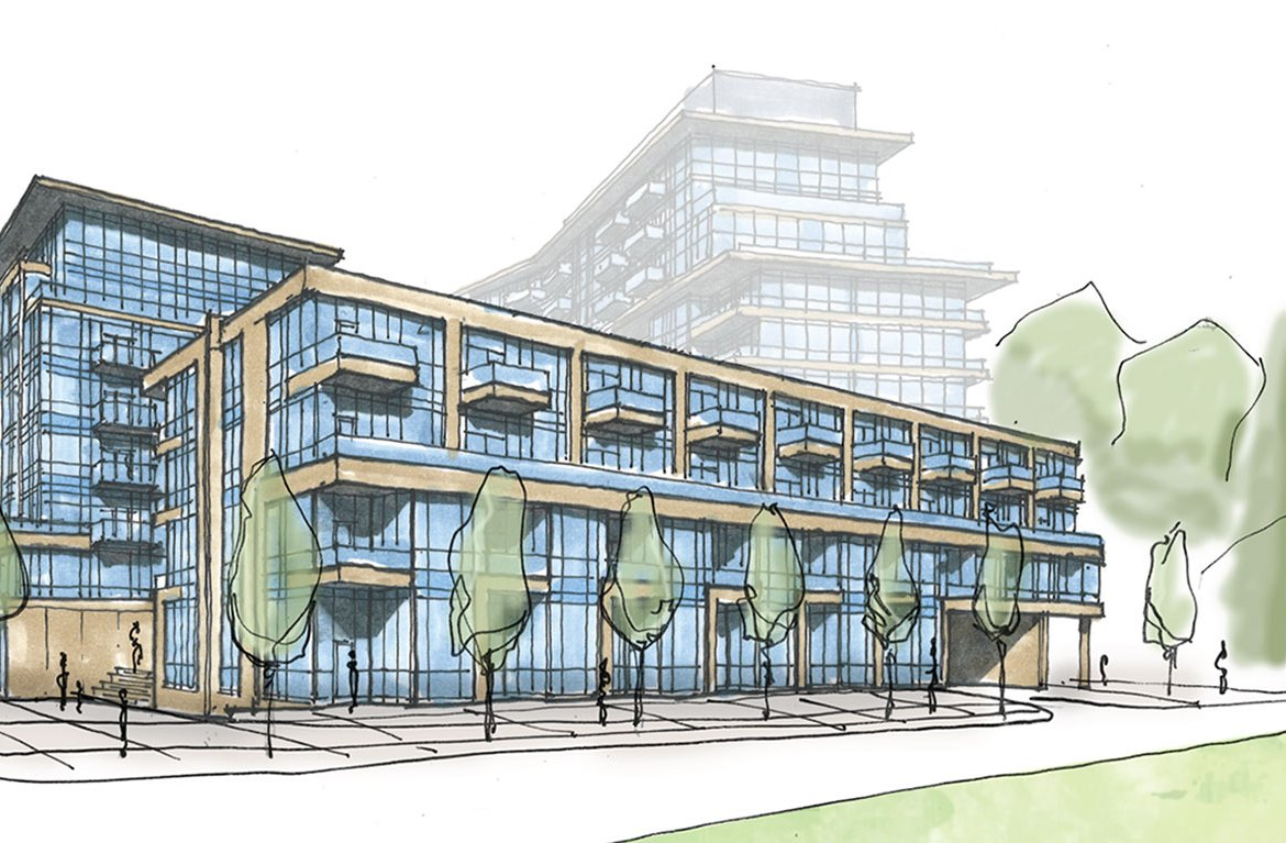 Sketch of 1345 Lakeshore Road St. James Towns.