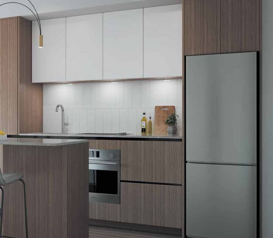 Interior rendering of The Thornhill Condos suite kitchen.