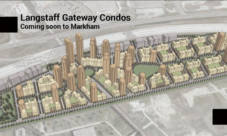 Site-plan of Langstaff Gateway Condo Community in Markham.