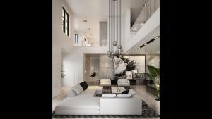 Rendering of 469 Spadina Homes interior loft living room.